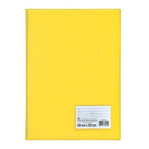 Pasta Catálogo Ofício Com 50 Envelopes Amarela - Dac