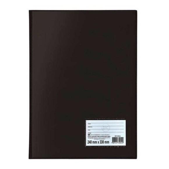 Pasta Catálogo A4 Com 50 Envelopes Preta - Dac