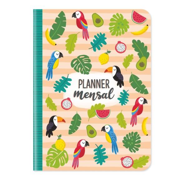 Planner Mensal Tropical - Cartões Gigantes