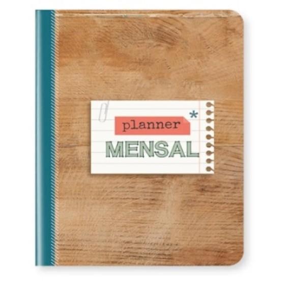 Planner Mensal Madeira - Cartões Gigantes