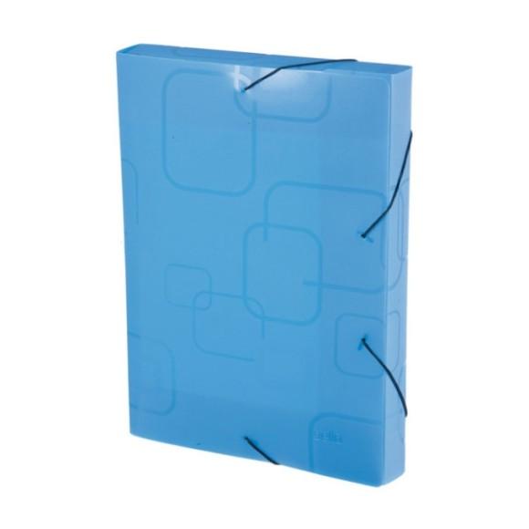 Pasta Aba Elástico Ofício Lombo 3cm Dellofine Azul - Dello