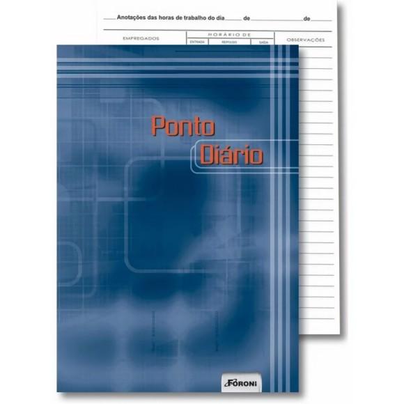 Livro de Ponto Diário Capa Dura 160 Folhas - Foroni