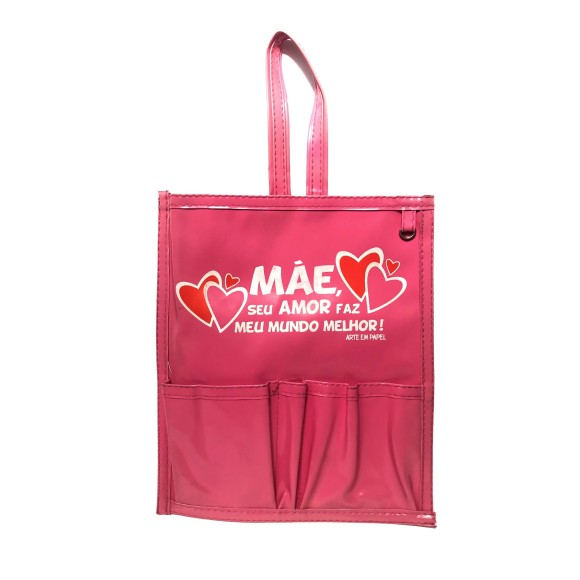 Lixeira Plástica Para Carro Mãe Rosa - Arte em Papel