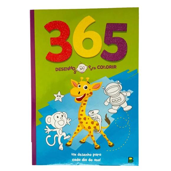 Livro 365 Desenhos Para Colorir Verde - Brasil Leitura