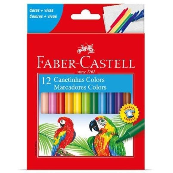 Canetinhas Hidrocor Colors 12 Cores - Faber Castell