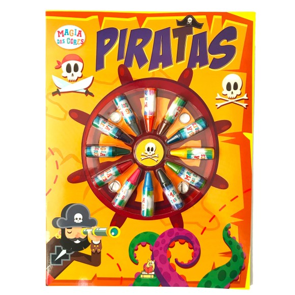 Livro Para Colorir Piratas - Magia das Cores