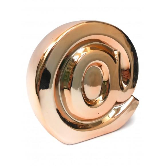 Cofre Decorativo Metalizado Arroba - Zimex