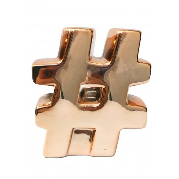 Cofre Decorativo Metalizado Hashtag - Zimex
